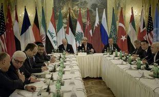 Réunion des principaux acteurs diplomatiques sur le conflit syrien à Vienne, le 30 octobre 2015