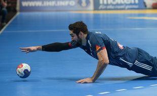 Nikola Karabatic lors du 8e de finale du Mondial France-Islande, le 21 janvier 2017 à Lille.