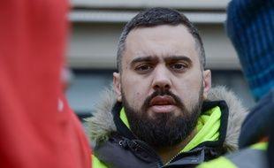 """Eric Drouet, lors du douzième samedi de mobilisation des """"gilets jaunes"""" à Paris, le 2 février 2019."""
