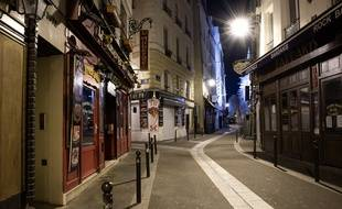 Une rue vide du quartier latin à Paris, le 5 novembre 2020 (illustration).