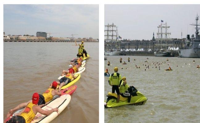 La traversée de la Garonne est surveillée par une centaine de sauveteurs.