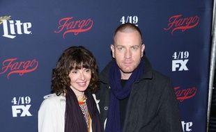 Ewan McGregor et Eve Mavrakis le 6 avril 2017 à New York.