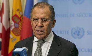 Le ministre russe des Affaires étrangères Sergueï Lavrov le 30 septembre 2015 à l'Onu à New York
