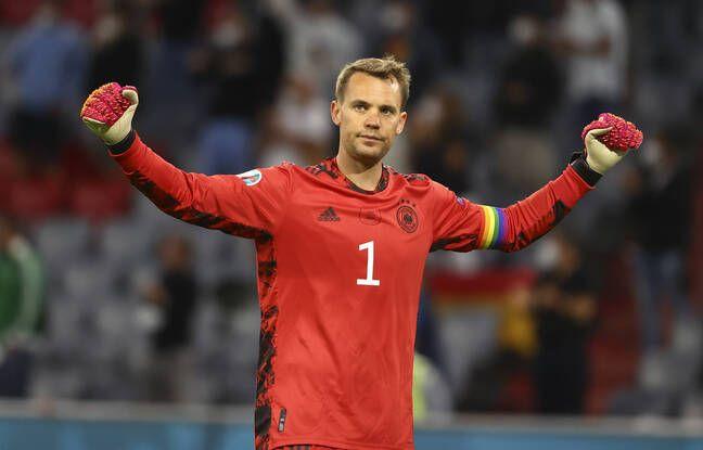 Neuer portait à nouveau son brassard aux couleurs de l'arc-en-ciel, mercredi, face à la Hongrie.