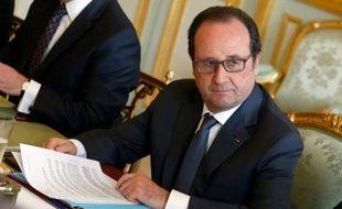 Le président François Hollande le 13 avril 2016 à l'Elysée à Paris