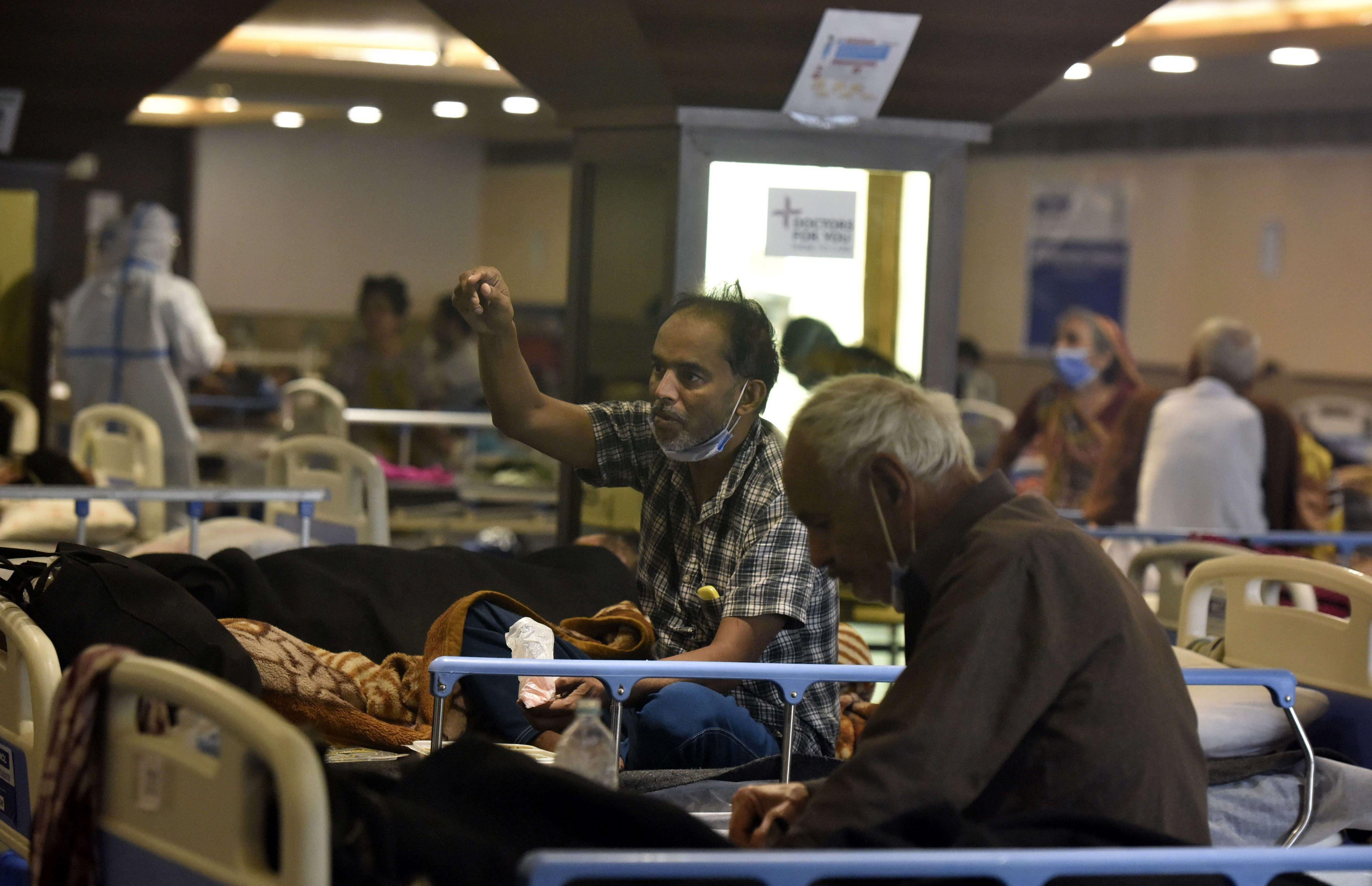 Dans un hôpital de Delhi, le 21 avril 2021.