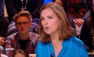 L'actrice Carole Bouquet sur le plateau de «Quotidien», vendredi.