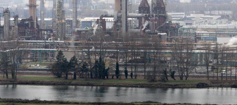La raffinerie Total du Havre.