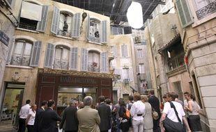 Le tournage de «Plus belle la vie» à Marseille en 2008.