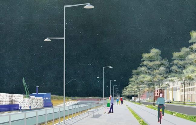 Sans la voie rapide, les quais de Bègles deviennent un lieu de promenade.