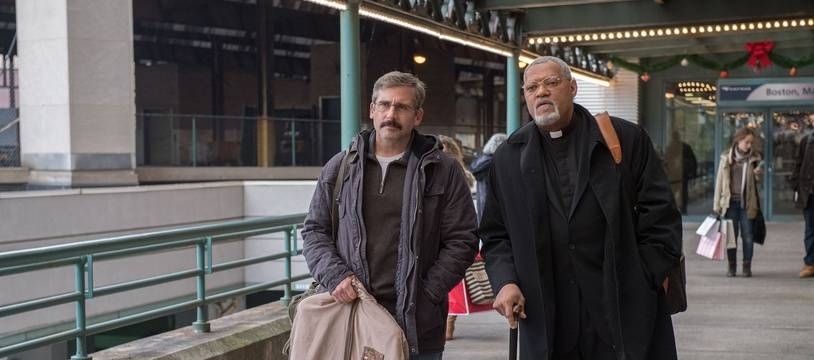 Steve Carrel et Laurence Fishburne dans Last flag flying de Richard Linklater