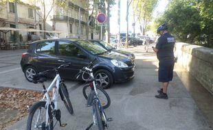 La brigade des pistes cyclables a été mise en place le 27 août à Montpellier