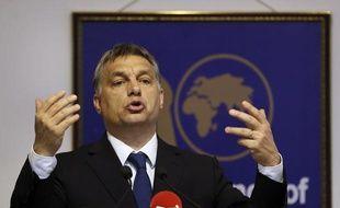 Le Premier ministre hongrois, Viktor Orban, le 17 octobre 2013 à New Delhi (Inde).