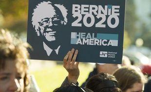 Un panneau «Bernie 2020» brandi en novembre 2016.