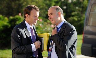 Pierre Moscovici (à droite) ne rejoindra pas le mouvement d'Emmanuel Macron.