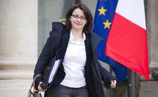 Cécile Duflot à la sortie d'un conseil des ministres, à Paris le 10 avril 2013.