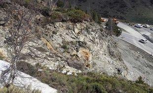 La zone d'éboulis à l'origine de la fermeture de l'accès à l'Andorre, via le Pas de la Case.