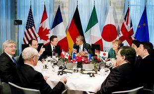 Les dirigeants des pays du G7 réunis à La Haye le 24 mars.