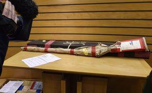 Le fusil de chasse utilisé par le buraliste pour tuer le lycéen le 14 décembre 2009.