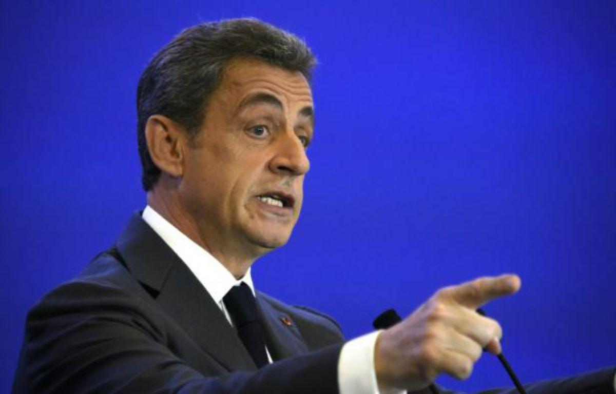 Nicolas Sarkozy à Paris le 9 mars 2016 – DOMINIQUE FAGET AFP