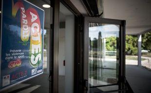 Lancement de la première tournée nationale de sensibilisation a la lutte contre les violences sexuelles dans le sport, au CREPS d'Île-de-France à Chatenay-Malabry, le 28 août 2019.