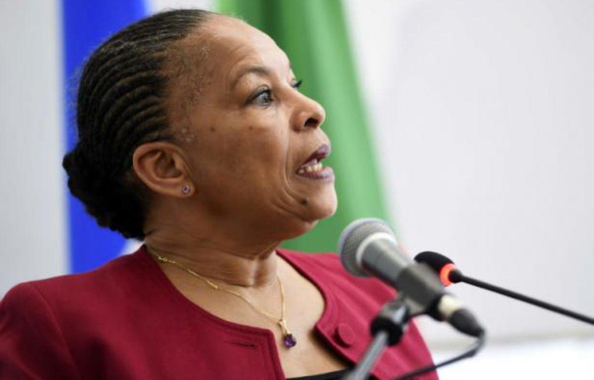 La ministre de la Justice Christiane Taubira à Alger, en Algérie, le 21 décembre 2015 – FAROUK BATICHE AFP