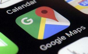 Application Google maps, illustration.