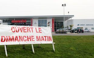 Le magasin Intermarché de La Mézière, près de Rennes, ouvrait le dimanche matin jusqu'en 2016.