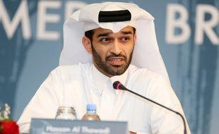 Hassan al-Thawadi, le président du comité d'organisation du Mondial 2022 au Qatar, le 25 février 2015.