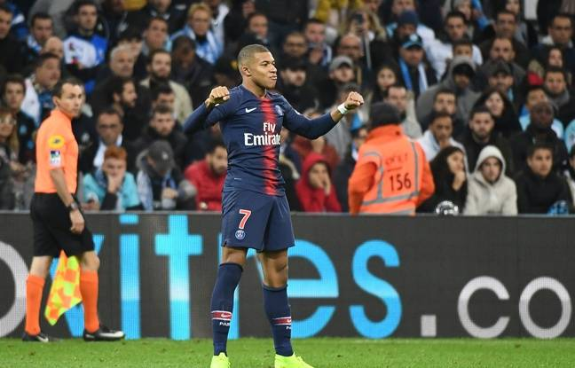 Mbappé at the Clasico OM-PSG on October 28, 2018.