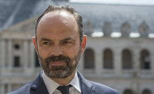 Le premier ministre Edouard Philippe dans la cour d'honneur des Invalides le 8 juin 2019.