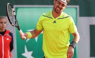 Fabio Fognini, le 30 mai 2014 à Roland-Garros.