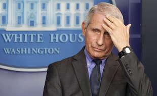 Anthony Fauci lors d'une conférence de presse à la Maison Blanche à Washington, le 13 avril.