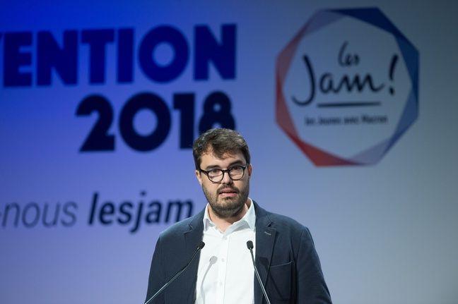 Martin Bohmert, délégué général des Jeunes avec Macron à la convention du mouvement le 17 mars 2018.