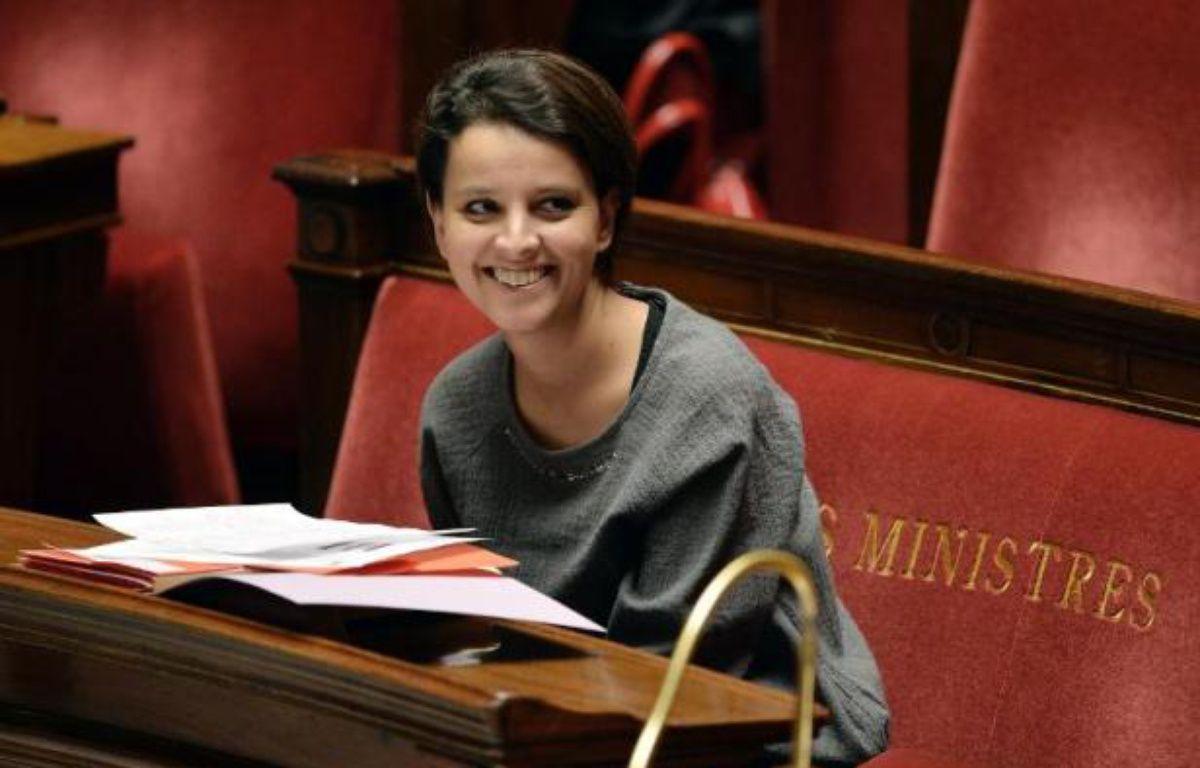 La ministre des Droits des femmes, Najat Vallaud-Belkacem, le 18 février 2014 à Paris – Eric Feferberg AFP