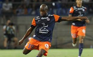 L'attaquant de Montpellier, Souleymane Camara, le 10 août 2012 à Montpellier.