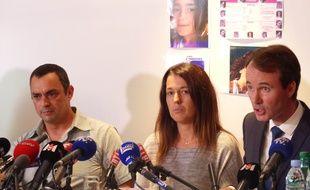 Lyon, le 28 septembre 2017. Les parents de Maëlys ont pris pour la première fois la parole ce vendredi, un mois après la disparition de leur fillette de  ans.