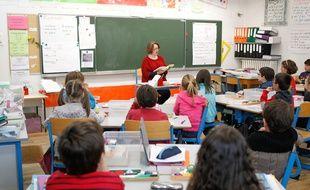 Une classe dans une école primaire nantaise (illustration)