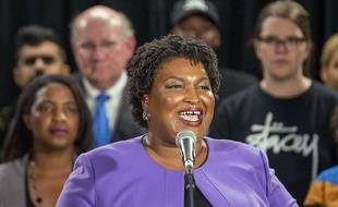 La candidate démocrate au poste de gouverneur de Géorgie, Stacy Abrams, a reconnu sa défaite le 16 novembre 2018.