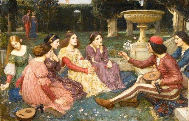 Le Décaméron peint par John William Waterhouse, 1916