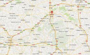 Google Map d'Orléans (Loiret).