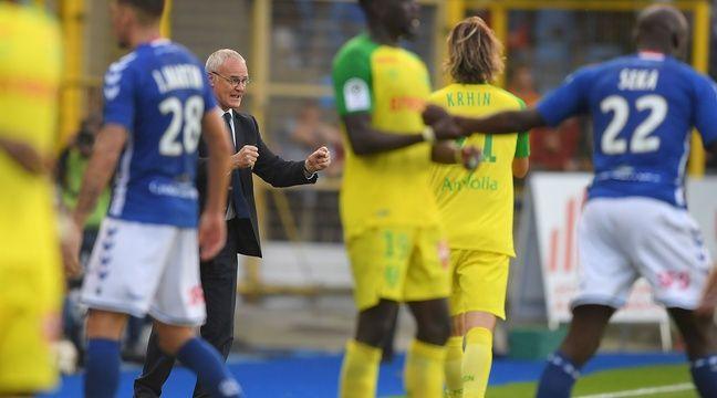 Les Nantais de Claudio Ranieri sont désormais sixièmes de Ligue 1 après leur victoire à Strasbourg (1-2)...  – AFP