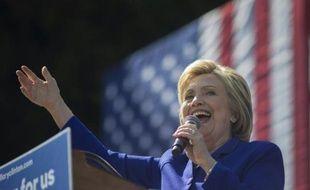 La démocrate Hillary Clinton lors d'un meeting de campagne à Los Angeles (ouest), le 6 juin 2016