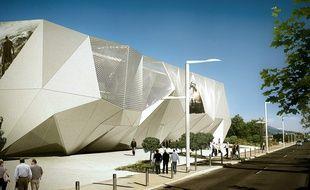 Le projet, vu ici depuis l'avenue Francis-Tonner, comprend douze salles de cinéma.