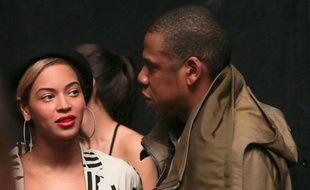 """Beyoncé et Jay Z lors d'une écoute privée de """"Yeesus"""" album de Kanye West le 10 juin 2013"""