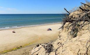 La plage de Carcans en 2018.