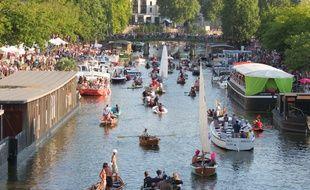 L'arrivée de la flottille à Nantes a été samedi l'un des temps forts du festival 2015.