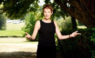 La journaliste Natacha Polony, le 20 août 2015, à Chanceaux-près-Loches (Indre-et-Loire), à l'occasion de la 20e édition de la Forêt des livres.