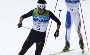 Jason Lamy Chappuis, médaille d'or aux Jeux olympiques d'hiver de Vancouver en combiné nordique le 14 février 2010.