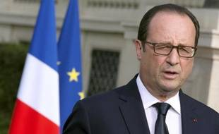 Le président François Hollande prononce un discours à Paris, le 26 juillet 2014